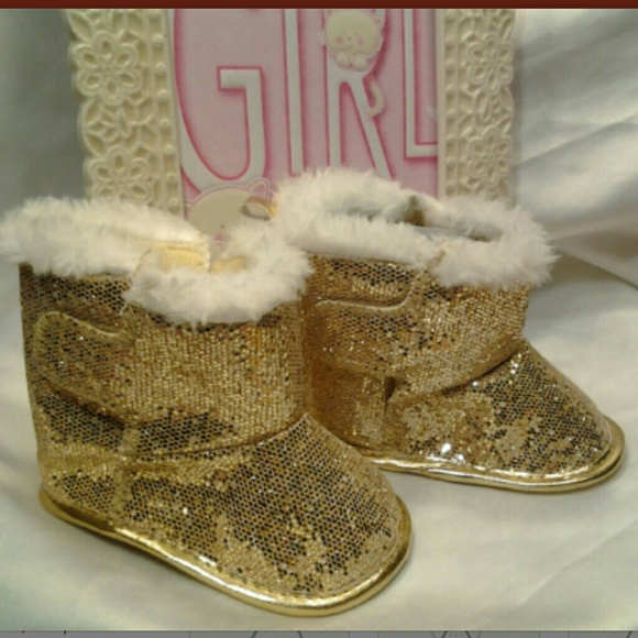 Shoes   Baby Gold Boots   Poshmark
